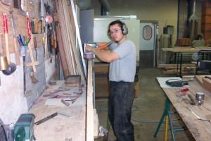 Académie de la Menuiserie Fabrication à l'atelier
